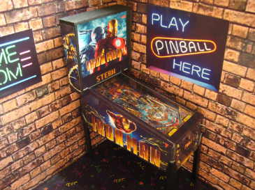 Iron Man  1/12th Scale Miniature Pinball Table Model